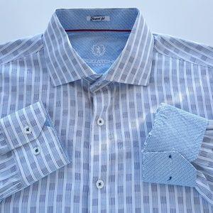 Bugatchi Mens Shirt Size L Shaped Fit